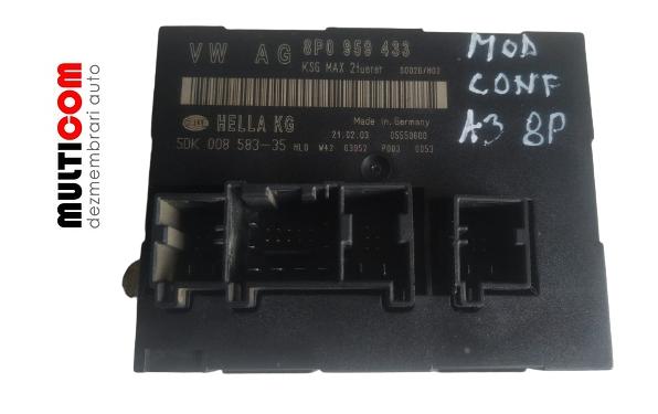 Modul confort Audi A3 8P cod 8P0958433